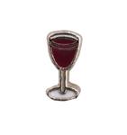 Wine Glass - Enamel Charm